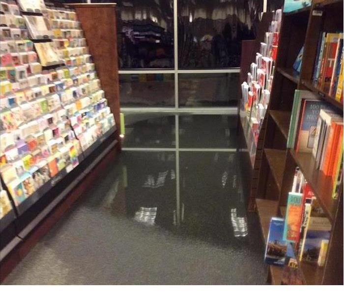 Water Damage In Bookstore
